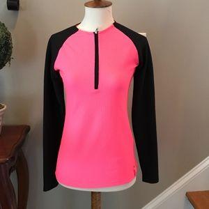 Ralph Lauren 1/4 Zip Pink Active Wear Pullover XS